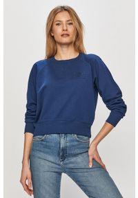 Lee - Bluza bawełniana. Kolor: niebieski. Materiał: bawełna. Długość rękawa: raglanowy rękaw