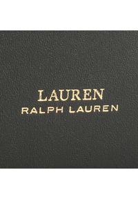 Czarna torebka worek Lauren Ralph Lauren casualowa