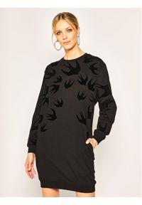 Czarna sukienka dzianinowa MCQ Alexander McQueen
