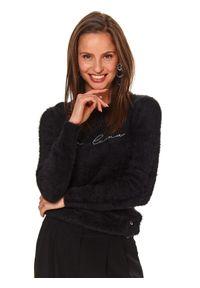 Czarny sweter TOP SECRET z długim rękawem, długi