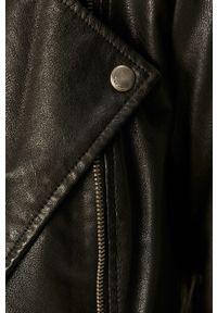 Czarna kurtka only casualowa, z klasycznym kołnierzykiem, na co dzień #6