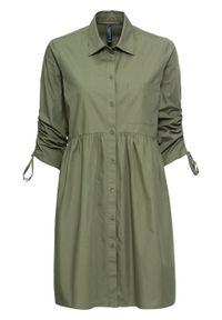 Zielona sukienka bonprix mini, szmizjerki
