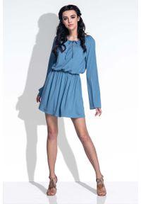 Niebieska sukienka boho Fobya