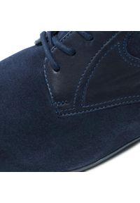 Badura - Półbuty BADURA - 7760-951 Granat. Okazja: na co dzień. Kolor: niebieski. Materiał: welur, skóra. Styl: sportowy, casual