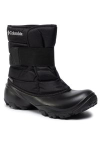 Czarne buty zimowe columbia z cholewką