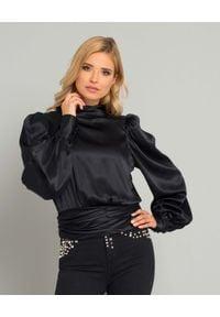 SELF LOVE - Czarna bluzka Paris. Okazja: na co dzień. Kolor: czarny. Materiał: jedwab. Długość rękawa: długi rękaw. Długość: długie. Styl: casual