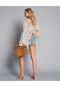 ONETEASPOON - Spodenki Country. Stan: obniżony. Kolor: niebieski. Materiał: tkanina, jeans. Wzór: aplikacja. Sezon: lato. Styl: klasyczny #5
