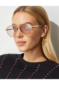 Dior - DIOR - Różowe okulary awiatorki. Kolor: różowy, wielokolorowy, fioletowy