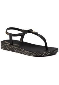 Czarne sandały Ipanema na co dzień, casualowe