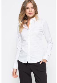 Biała koszula TOMMY HILFIGER z klasycznym kołnierzykiem, długa, klasyczna