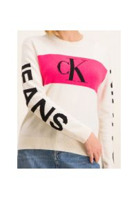 Beżowy sweter Calvin Klein Jeans
