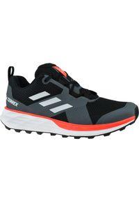 Czarne buty sportowe Adidas z cholewką, w kolorowe wzory, Adidas Terrex