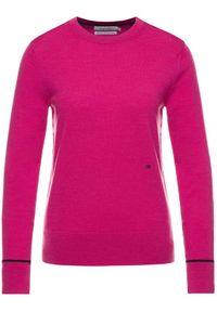 Różowy sweter klasyczny Calvin Klein