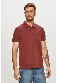 Brązowa koszulka polo Levi's® na co dzień, krótka, biznesowa, polo