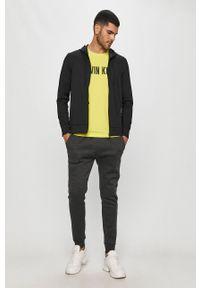 Czarna bluza rozpinana Calvin Klein Performance casualowa, na co dzień