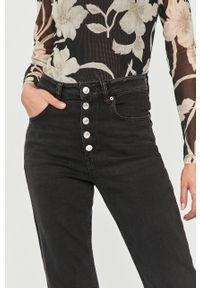 Czarne jeansy AllSaints z podwyższonym stanem