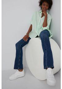 Answear Lab - Koszula. Kolor: zielony. Materiał: tkanina. Długość rękawa: długi rękaw. Długość: długie. Wzór: gładki. Styl: wakacyjny