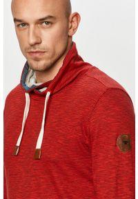 Czerwona koszulka z długim rękawem Tom Tailor casualowa, na co dzień