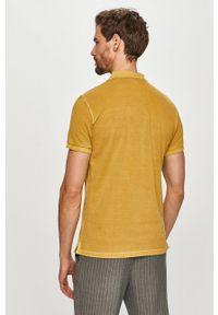 Żółta koszulka polo Marc O'Polo gładkie, polo, casualowa