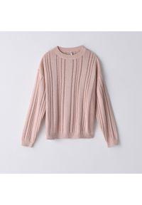 Sweter Cropp w ażurowe wzory