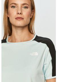 The North Face - T-shirt. Okazja: na co dzień. Kolor: niebieski. Materiał: dzianina. Styl: casual
