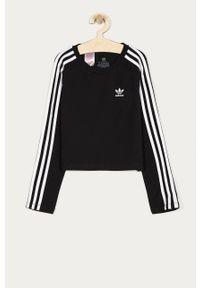 Czarna bluzka z długim rękawem adidas Originals casualowa, długa, na co dzień