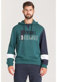 BLUZA Armani Exchange. Typ kołnierza: kołnierzyk stójkowy, kaptur. Styl: klasyczny