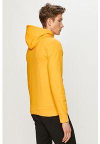 Champion - Bluza bawełniana. Okazja: na co dzień. Typ kołnierza: kaptur. Kolor: żółty. Materiał: bawełna. Wzór: aplikacja. Styl: casual