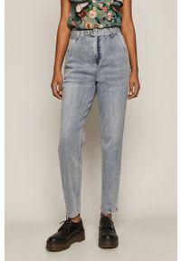 Niebieskie jeansy loose fit medicine z podwyższonym stanem