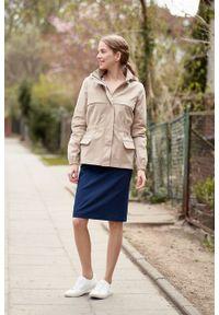Marie Zélie - Kurtka Estel bawełna beż piaskowy. Kolor: beżowy. Materiał: bawełna. Długość: krótkie. Sezon: lato