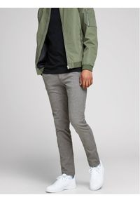 Jack & Jones - Jack&Jones Spodnie materiałowe Marco Enso 12170333 Szary Slim Fit. Kolor: szary. Materiał: materiał