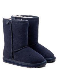 Niebieskie buty zimowe EMU Australia z cholewką