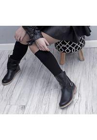 Czarne botki Zapato na lato, bez zapięcia