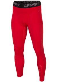 Czerwone legginsy sportowe 4f