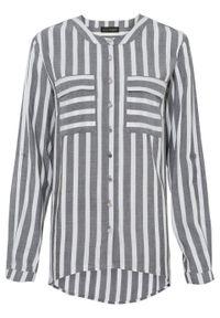 Szara bluzka bonprix w paski, długa