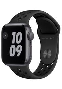 APPLE - Apple smartwatch Watch Nike SE, 40mm Space Gray Aluminium Case with Anthracite/Black Nike Sport Band (MYYF2HC/A). Rodzaj zegarka: smartwatch. Kolor: szary. Styl: sportowy