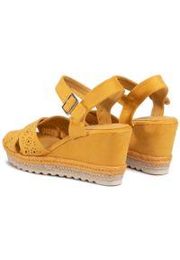 Refresh - Espadryle REFRESH - 69484 Yellow. Okazja: na spacer, na co dzień. Kolor: żółty. Materiał: materiał. Sezon: lato. Obcas: na obcasie. Styl: casual. Wysokość obcasa: średni