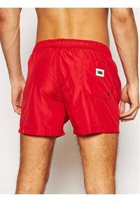 Karl Lagerfeld - KARL LAGERFELD Szorty kąpielowe Classic KL21MBS02 Czerwony Regular Fit. Kolor: czerwony