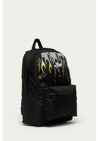Czarny plecak Vans z nadrukiem