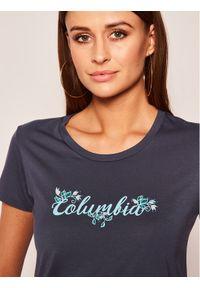 Niebieski t-shirt columbia