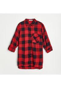 Reserved - Koszula w kratę - Czerwony. Kolor: czerwony