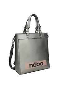 Nobo - Torebka damska srebrna NOBO NBAG-J5210-C025. Kolor: srebrny. Wzór: gładki, aplikacja. Materiał: skórzane