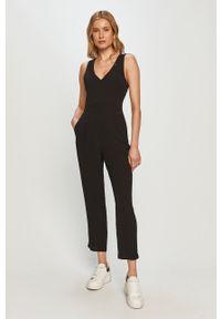 Czarny kombinezon Pepe Jeans casualowy, długi, gładki, na ramiączkach