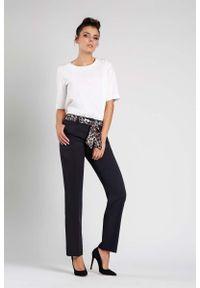 Czarne spodnie z wysokim stanem Nommo eleganckie