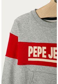 Szara bluza Pepe Jeans casualowa, bez kaptura