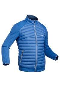 WEDZE - Kurtka narciarska wewnętrzna 900 męska. Kolor: niebieski. Materiał: materiał, puch. Sport: narciarstwo