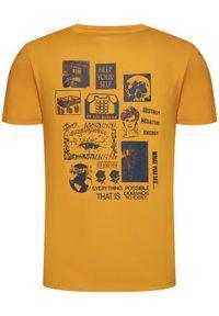 Converse T-Shirt 10019934-A03 Żółty Regular Fit. Kolor: żółty #2