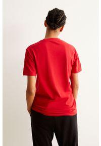 Czerwona piżama Undiz krótka, z nadrukiem