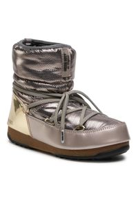 Złote śniegowce Moon Boot