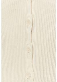 Biały sweter rozpinany TALLY WEIJL
